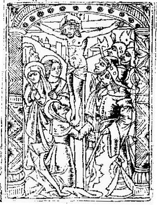 Illustration from the Front Page of the 1495 Edition of the Speculum Finalis Retributionis